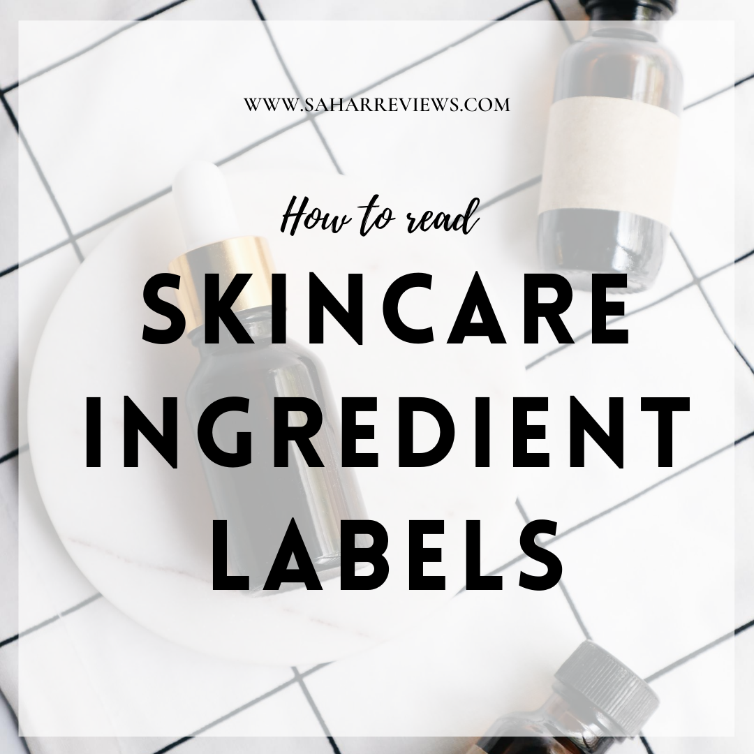 Skincare Ingredient Labels